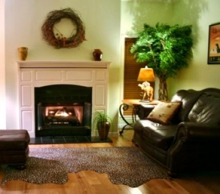 Fireplace Vacation Rental Living Room