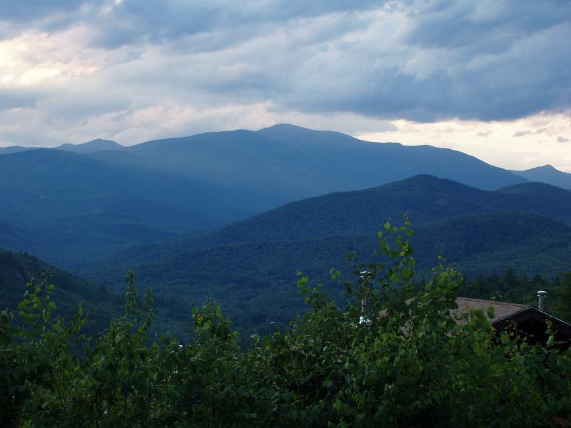 Views from our patio to Mt. Washington
