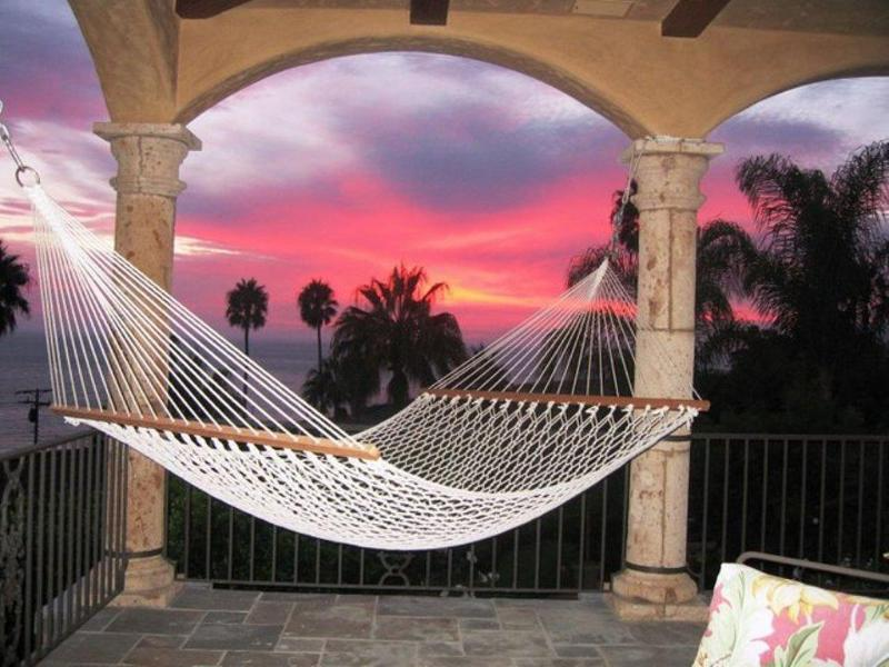 Enjoy Sunsets from the Loggia Hammock