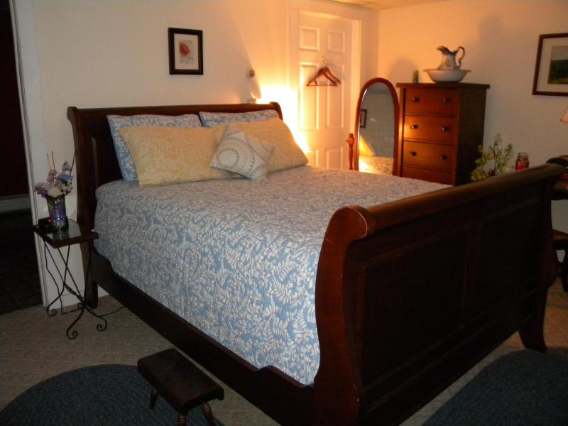 Ultra Romantic and Plush Queen Sleigh Bed