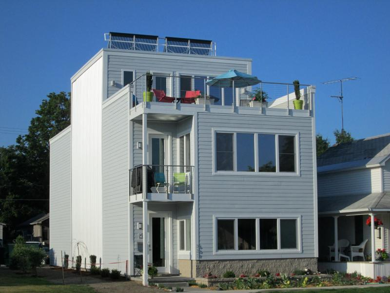 Solar Home, across from the bay, 2 blocks west of downtown Traverse City.