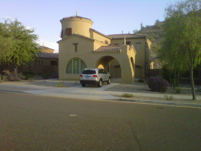 house from the street - Escape in the Desert Community of Estrella - Goodyear - rentals
