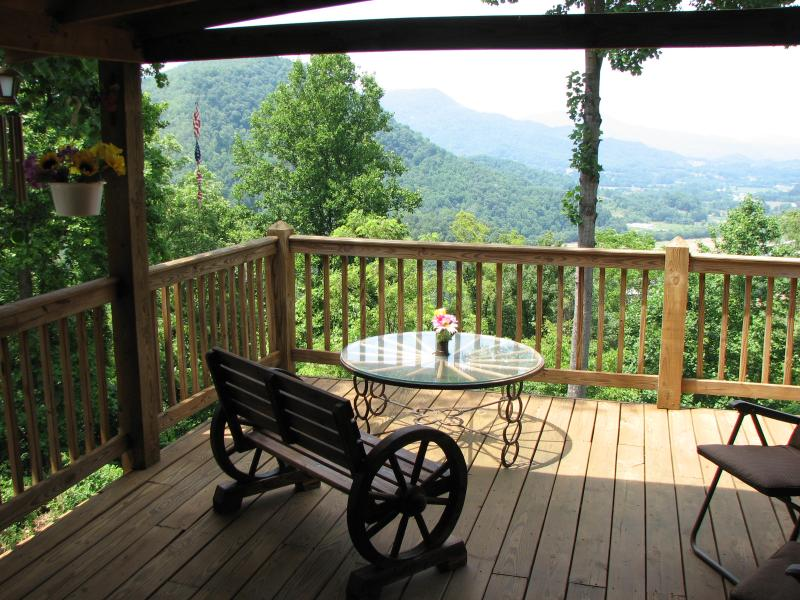 view of the valley from the large end of the deck