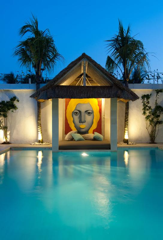 Pool and Bale at night to soak up the flavour of Bali