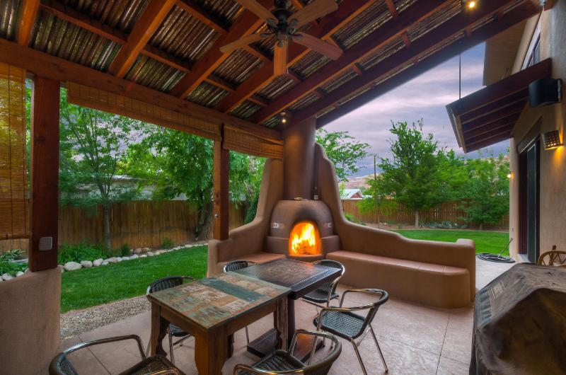 Back Deck with Kiva Fireplace