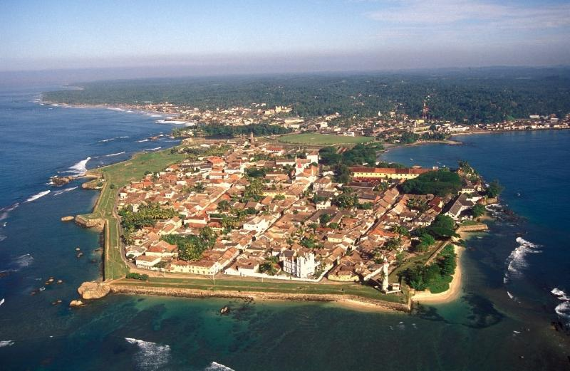 Galle Fort from the air