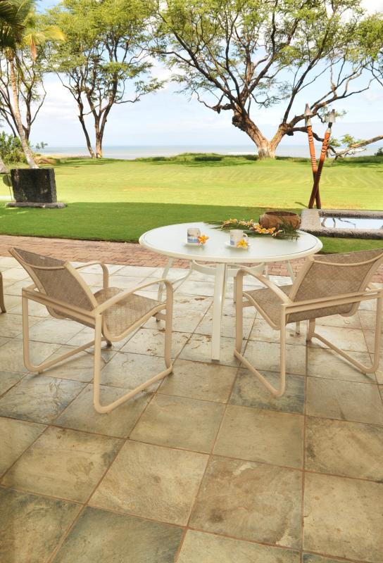 Just walk though your slider to your personal lanai.