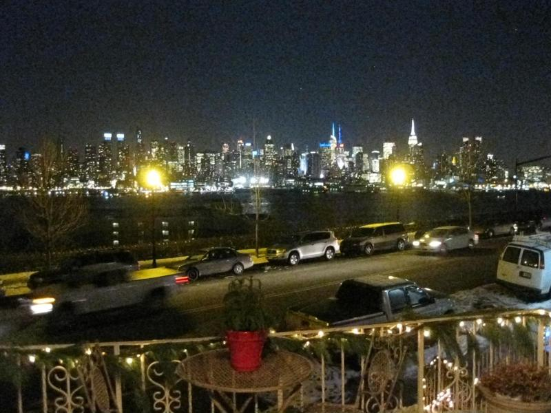 NYC PORCH VIEW/NIGHT TIME