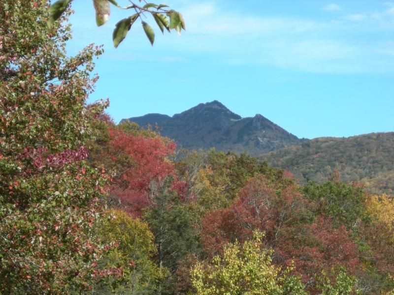 Grandfather Mtn from deck