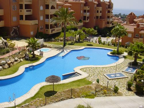 View from Terrace overlooking main pool.