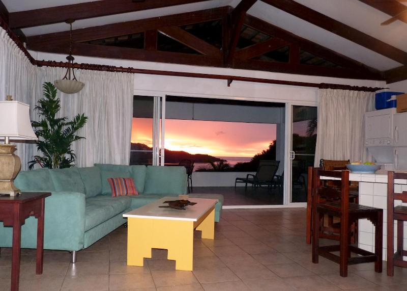 Great Room Sunset - Playa Hermosa Ocean View Villa - Papagayo Gulf - Playa Hermosa - rentals