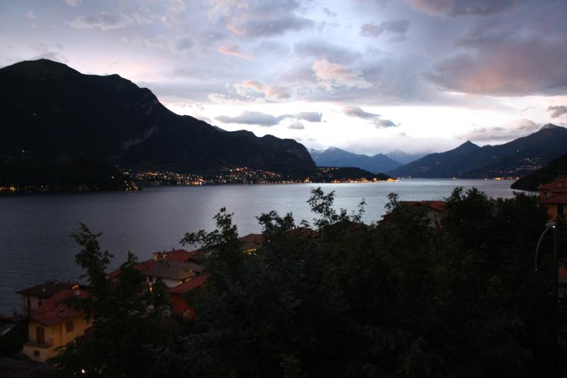 Evening view north toward Bellagio - Lake Como Vistas - design & comfort, Bellagio @6km - Lezzeno - rentals