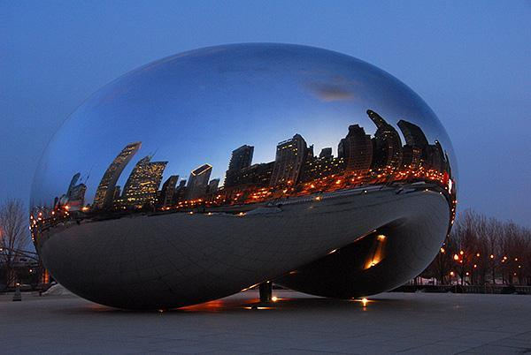 """Steps to Millennium Park and """"The Bean"""""""