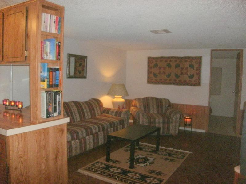 Partial view of comfortable living room