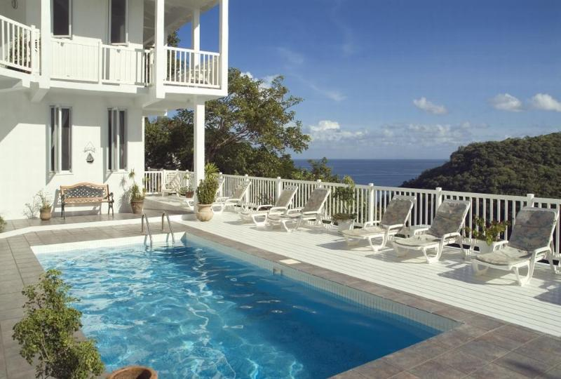 The Villa and its Pool - The Villa On The Bay - Marigot Bay - rentals