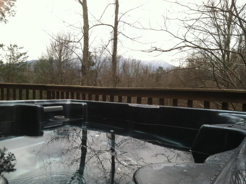 Beautiful Deck View from Hot Tub