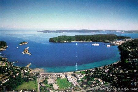 Departure Bay from Sugarloaf Mountain - Bayview Terrace ocean-view B&B - Nanaimo - rentals