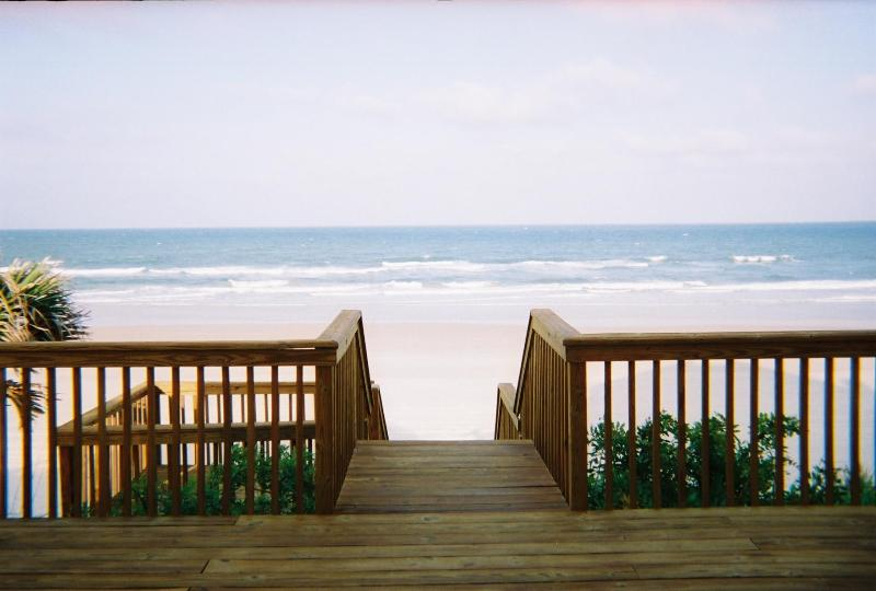 View from Back Door - Ocean Front House in Wilbur By The Sea, Florida - Port Orange - rentals