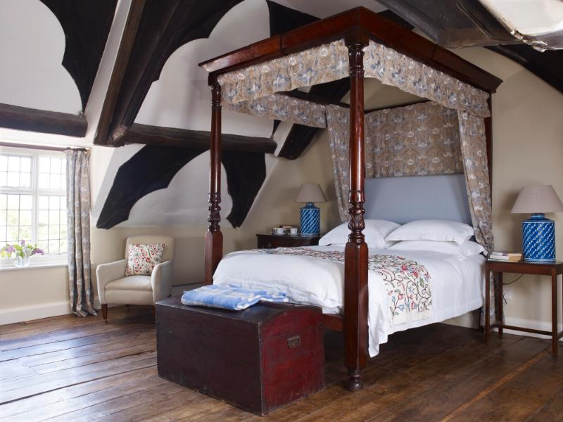 Four poster bedroom at The hyde