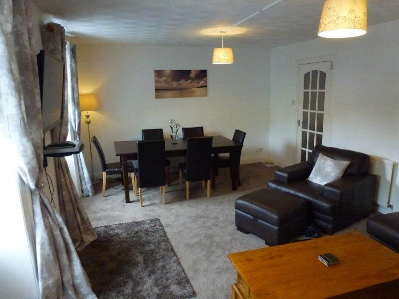 Living Room and Dining Area.  Flat Screen 40 inch TV with SKY TV (including SKY SPORTS)