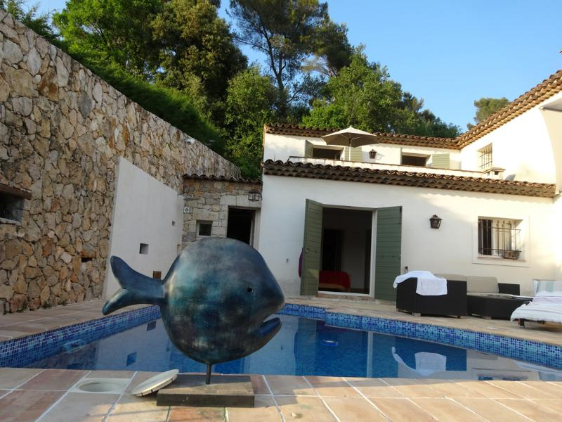 A luxury villa with a fabulous pool and jacuzzi