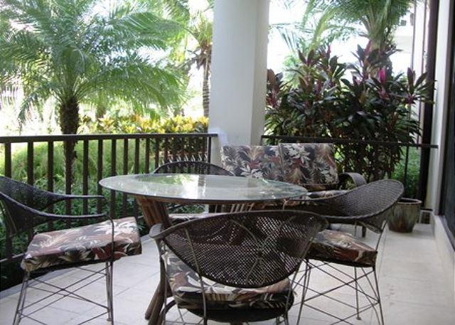 The Patio is amazing for enjoy lunch or relax. - Pacifico L202 - First Floor, 2 BR, 2 Bath, Pool View Pacifico Unit - Playas del Coco - rentals