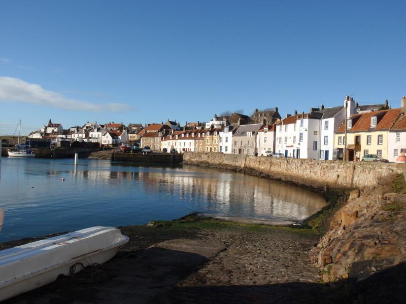 St Monans harbour with Fifies House nestling in the centre