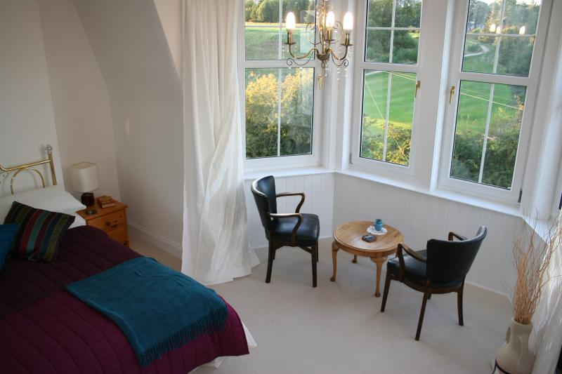 The baywindow in the Master bedroom with a sitting area to enjoy the fantastic outlook.