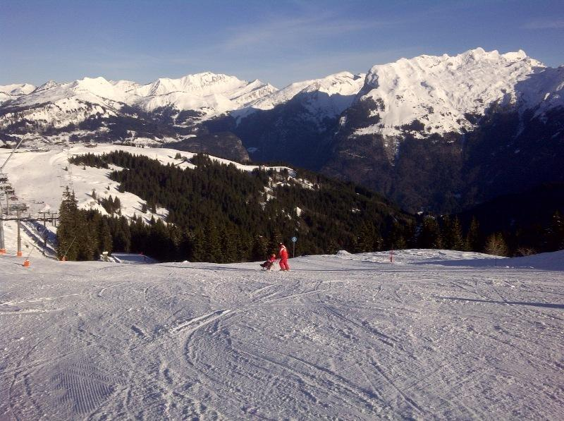 Skiing in Samoens.