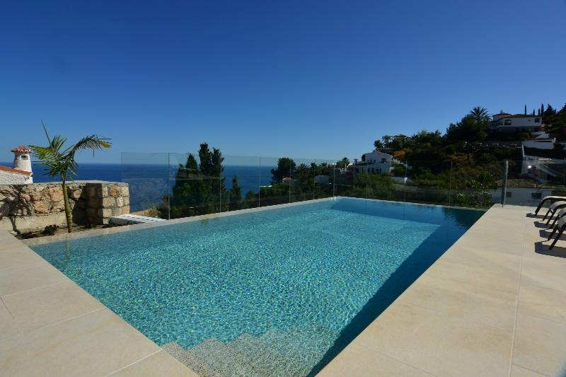 Stunning sea views from this villa with infinity pool