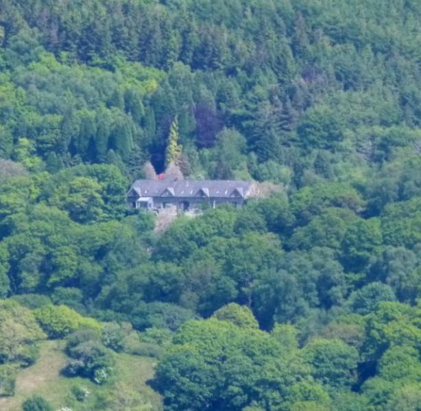The house is in an elevated position with direct access to the Mawddach Estuary Trail