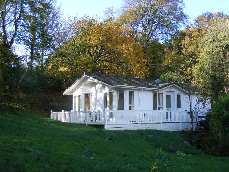 beautiful chalet in a peaceful woodland setting. For more photos and info find us at www.cadfanholid