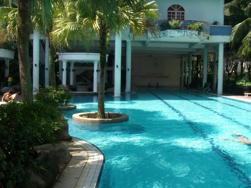 Pool Area has olympic size and children's swimming area