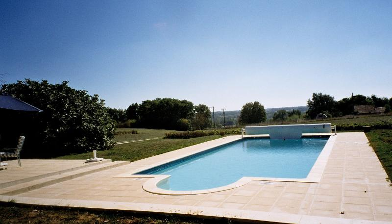 The pool with stunning rural views