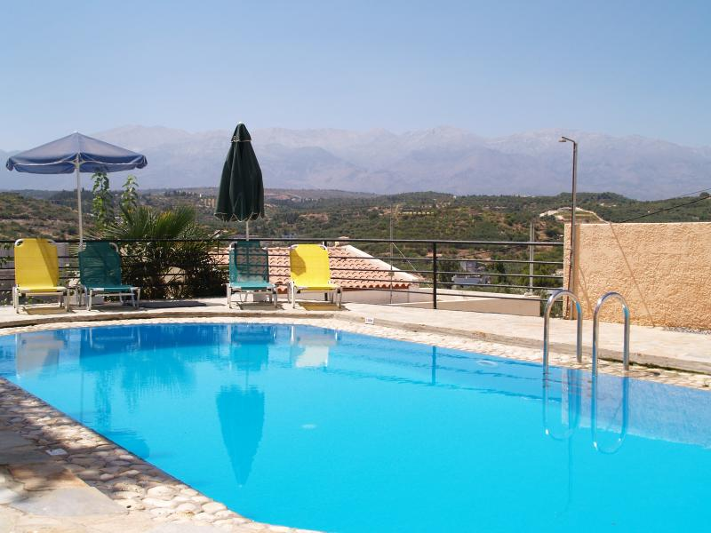Mulberry House shared pool and mountain view