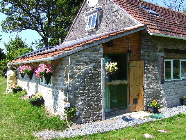 External view of accommodation in renovated eco friendly barn,beautiful quiet location