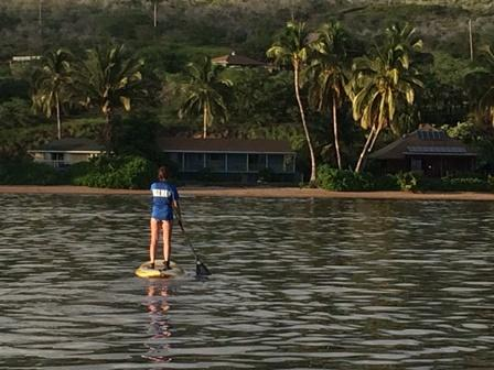Paddle in and out everyday from the Happy House