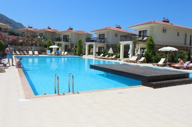 Overview of Villa, our Villa is the one in the centre, just a few steps into the olympic size pool.
