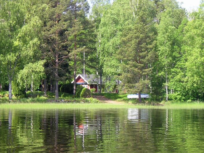 Cottage viewed from the lake