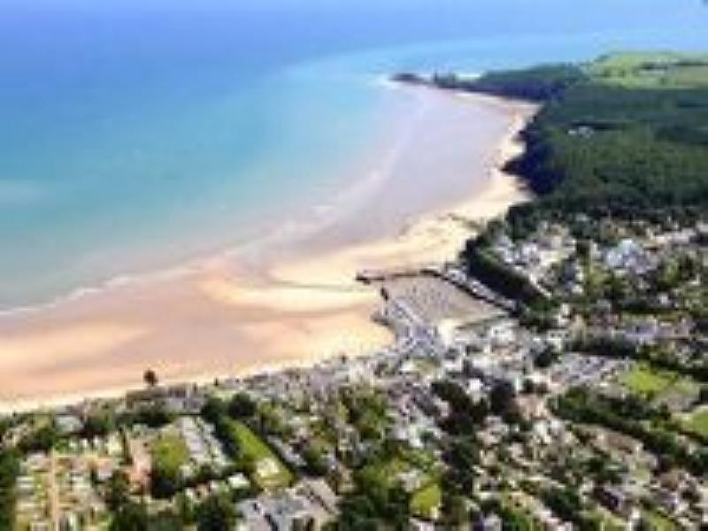 Tenby town, north beach, harbour & south beach. Even more spectacular when the tide is in!