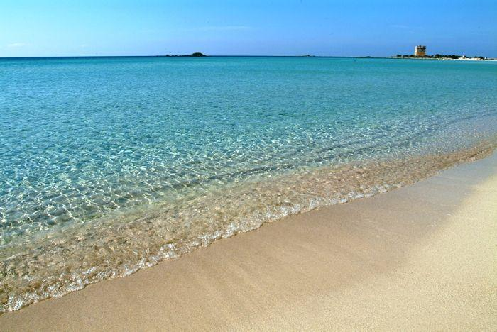 The caribbean colour of the sea in Porto Cesareo, the sandy bech of Belvedere,500mt from the house