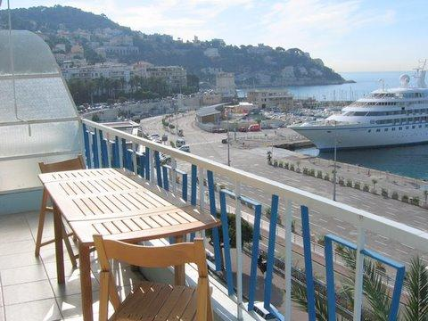 Spacious balcony with super views over the port!