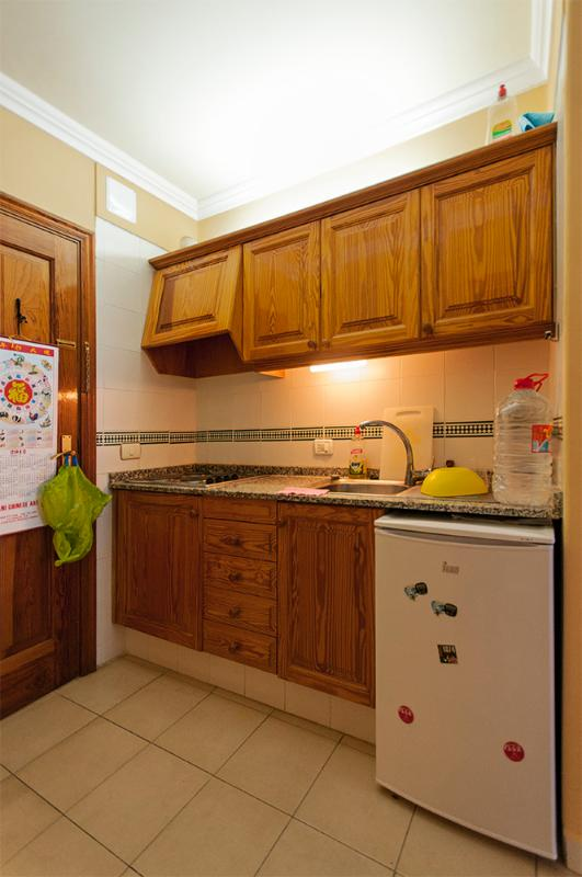 Kitchen. Fridge and electric kitchen. All hardware provide, pymer, toast, microwave...