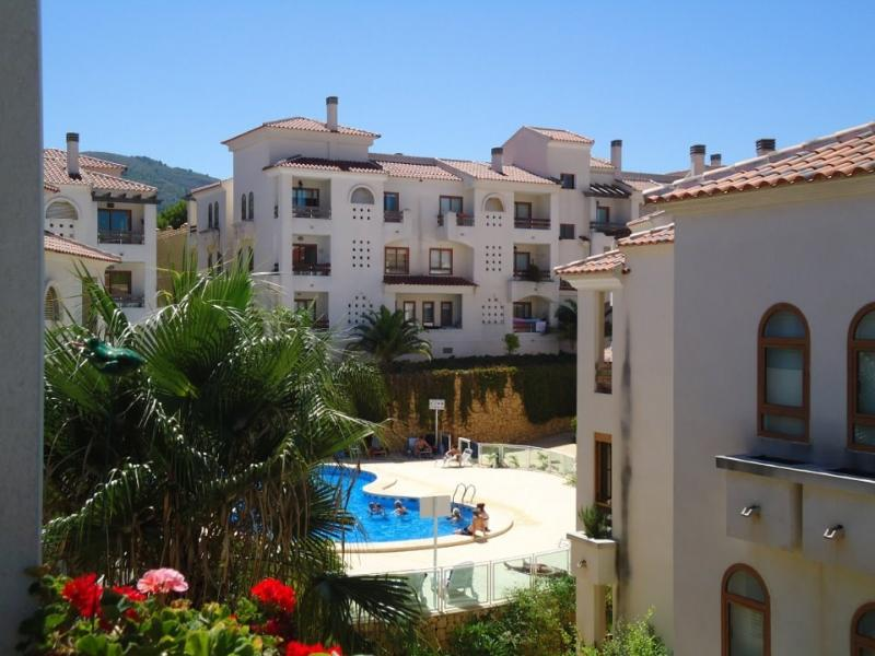 View to apt.Fabulous views in all directions,beautiful complex with well kept gardens.