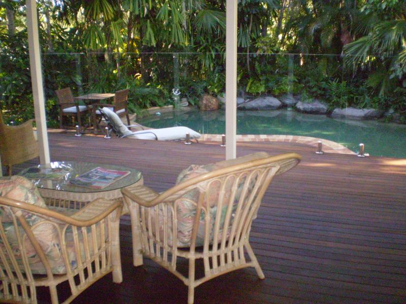 Deck & pool area, perfect place to relax & enjoy the peace & quiet.