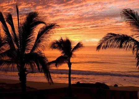 Sunset at The Beach - The Beach Private Estate - Todos Santos - rentals