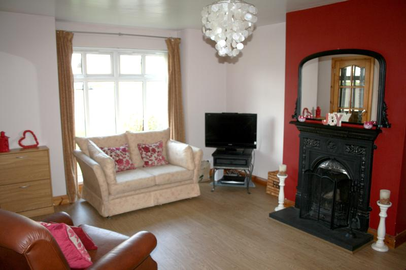 Bright spacious modern living area. High speed WIFI & SKY TV. Family DVD's & games provided.