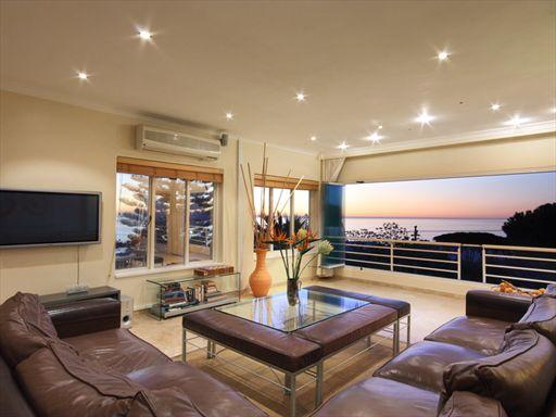 Watch the sunset from your lounge and entertainment area.