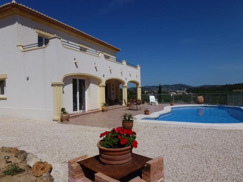 Sunbathe on the terrace or first floor balcony before a dip in the delightful pool