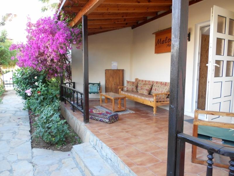 The Relaxing Turkish Style Verandah complete with Comfy Chairs and Cushions